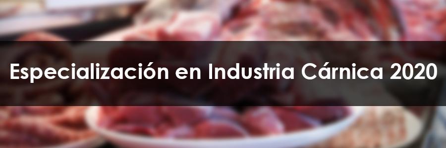 Especialización en Industria Cárnica