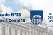 Comunicado Nº 33 de la Udelar: actualización de criterios de presencialidad en distintas sedes