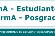 Formulario Estadístico OBLIGATORIO para Estudiantes de Grado y Posgrado