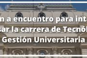 Charla sobre la carrera de Tecnólogo en Gestión Universitaria
