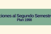 Inscripciones a los cursos del 2º Semestre 2021 - Plan 1998