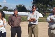 Visita de autoridades al Campo Experimental Nº2 de FVET